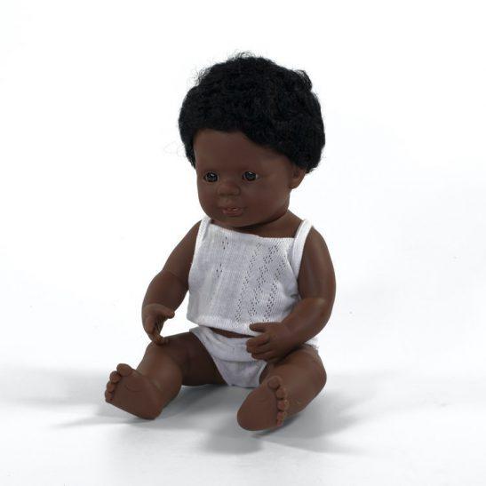 Lalka chłopiec Afroamerykańczyk 38 cm