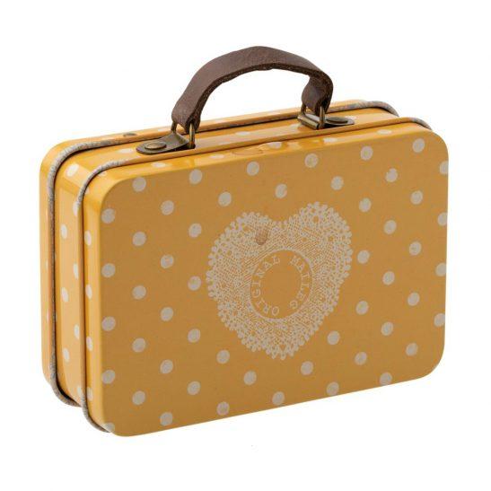 Metalowa żółta walizeczka