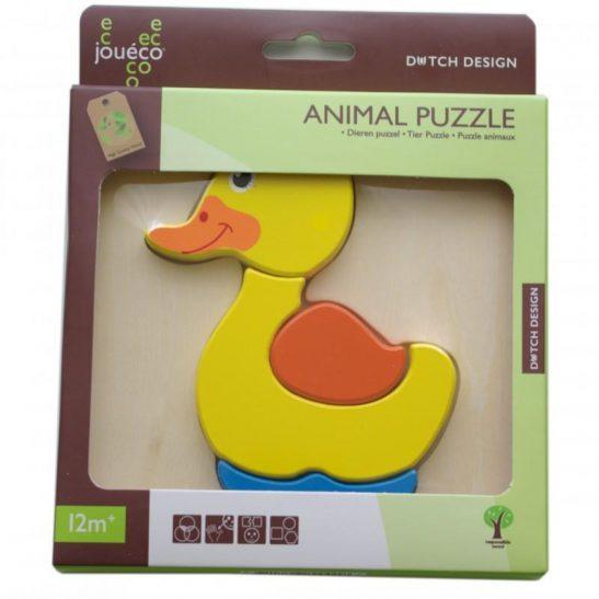Drewniane puzzle zwierzątko Kaczka