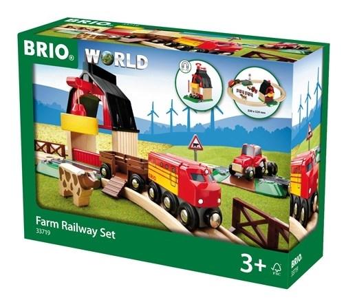 BRIO World Kolejka Drewniana Na Farmie 33719