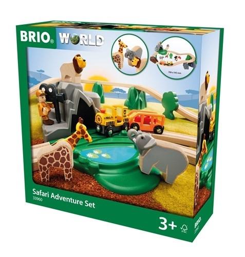 BRIO World Kolejka Drewniana Safari 33960