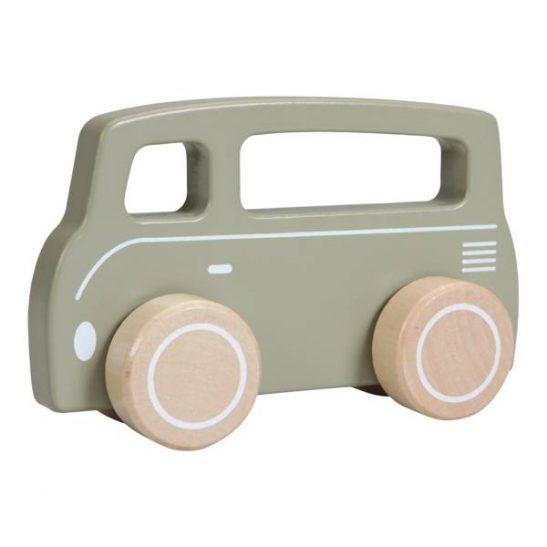 Drewniane oliwkowe Autko Van