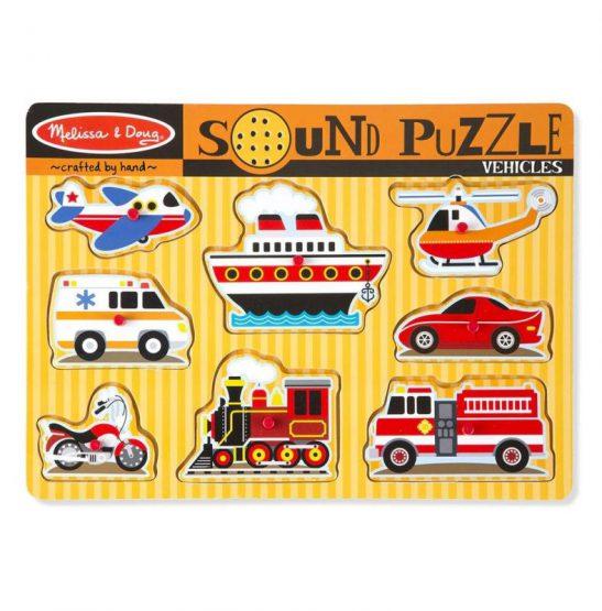 puzzle dźwiękowe Pojazdy