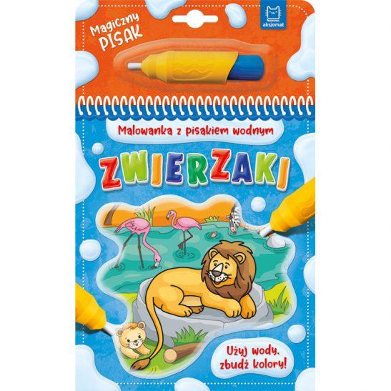Zwierzaki - Malowanka wodna z pisakiem