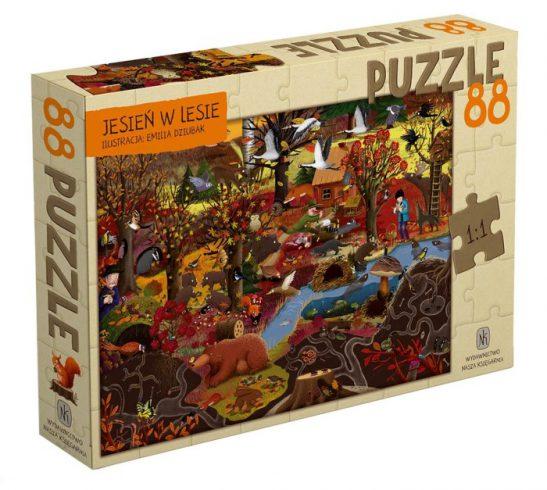 Puzzle Jesień w lesie