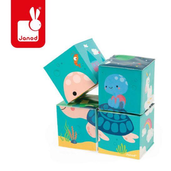 Klocki do kąpieli puzzle 6w1 Zwierzątka