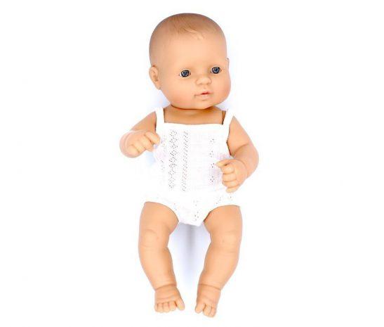 Lalka chłopiec Europejczyk 32cm Miniland Baby