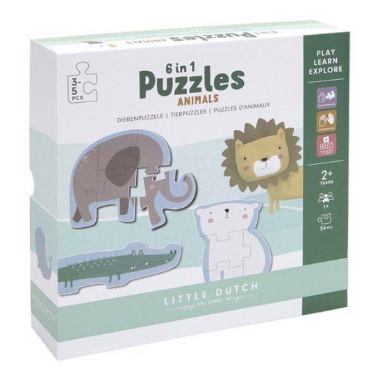 Puzzle Zoo 3-5 elementów