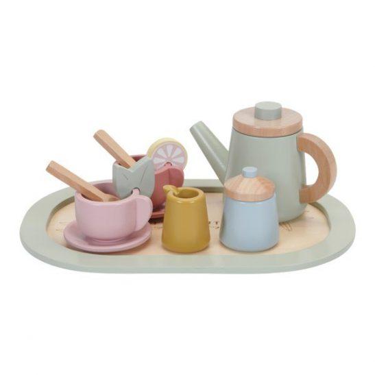 Drewniany zestaw - Tea set