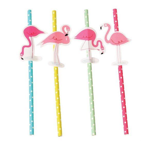 Słomki papierowe Flamingo Bay