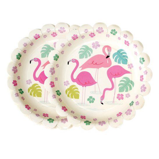 Talerzyki papierowe Flamingo Bay