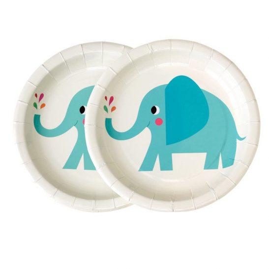 Talerzyki papierowe Słoń Elvis