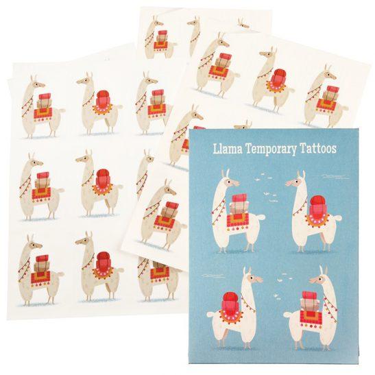 tatuaże dla dzieci Lama