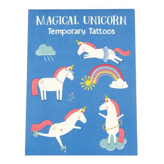 Tatuaże zmywalne dla dzieci, Magiczny Jednorożec, Rex London