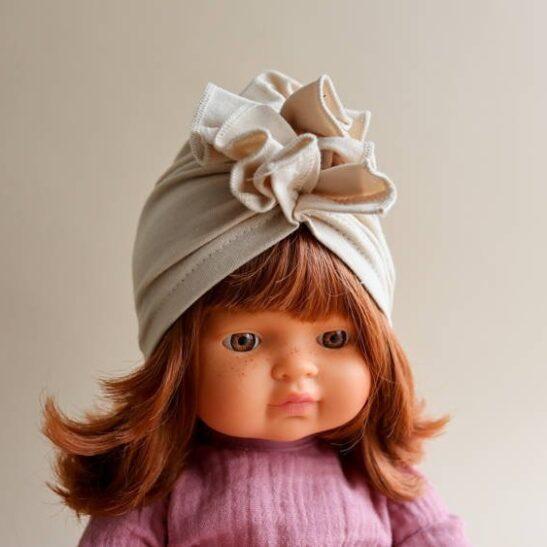 Beżowy turban rozmiar 38