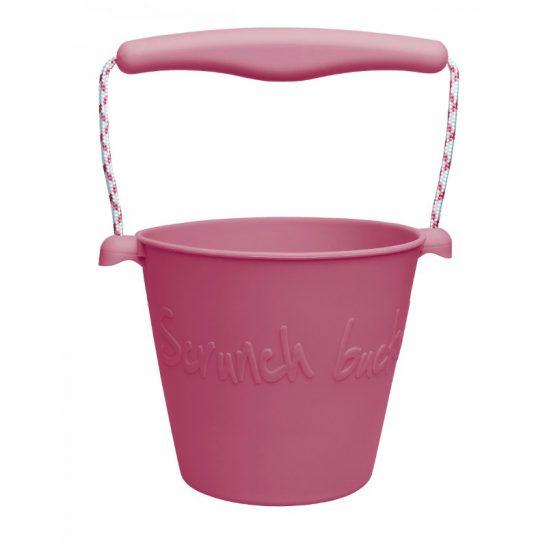 składane wiaderko Bucket - wiśniowe